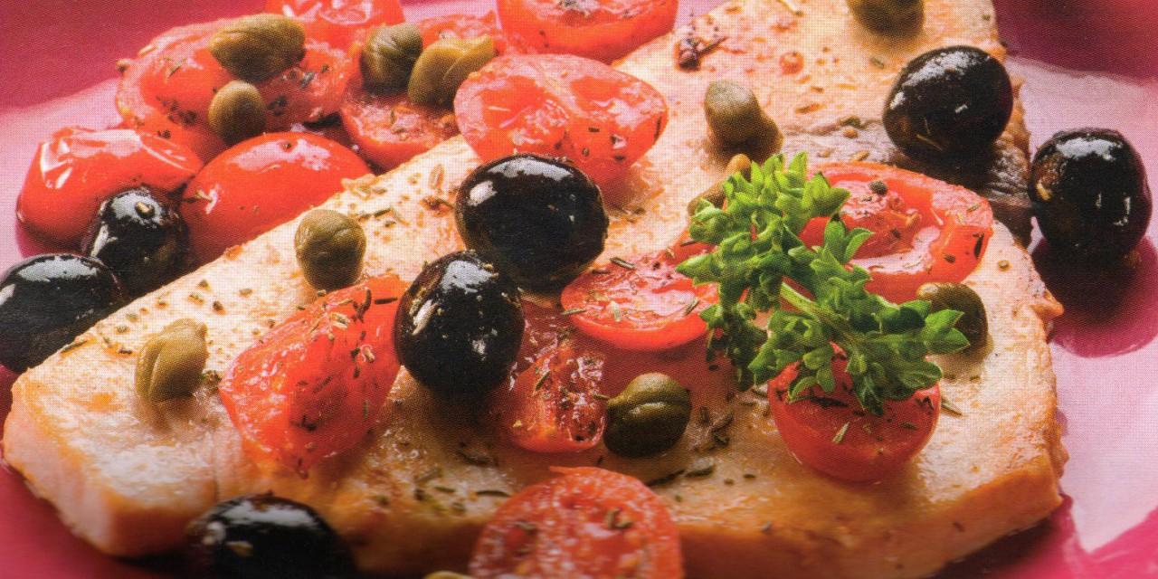 Pesce spada con pomodori, capperi e olive nere - Non Solo Ricette