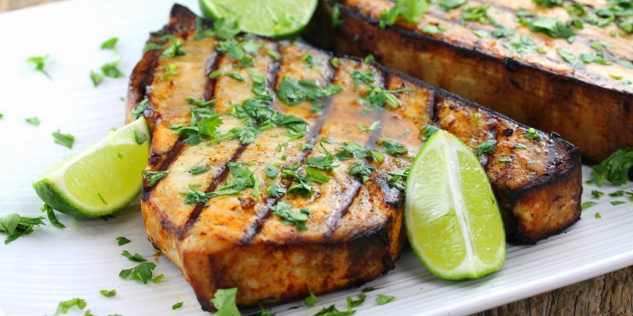 pesce spada alla griglia con limone