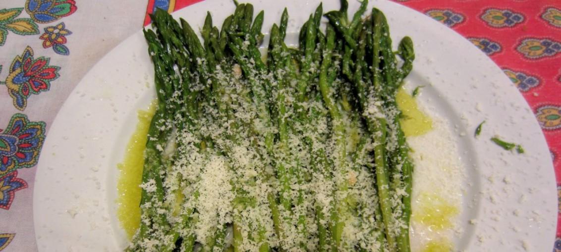 ricetta asparagi con limone e parmigiano
