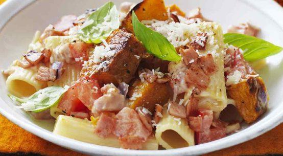 ricetta ricagoni zucca e pancetta